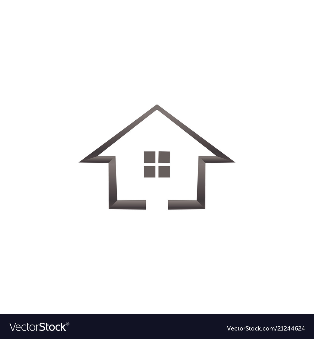 Simple house real estate logo template