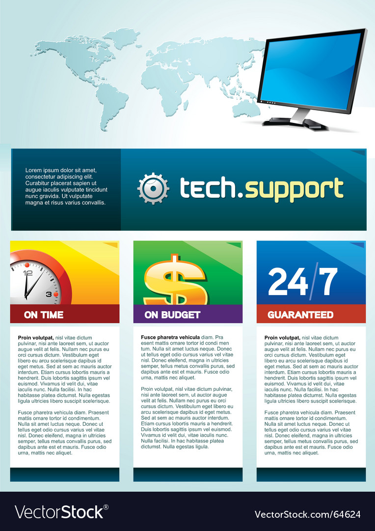 Tech support brochure
