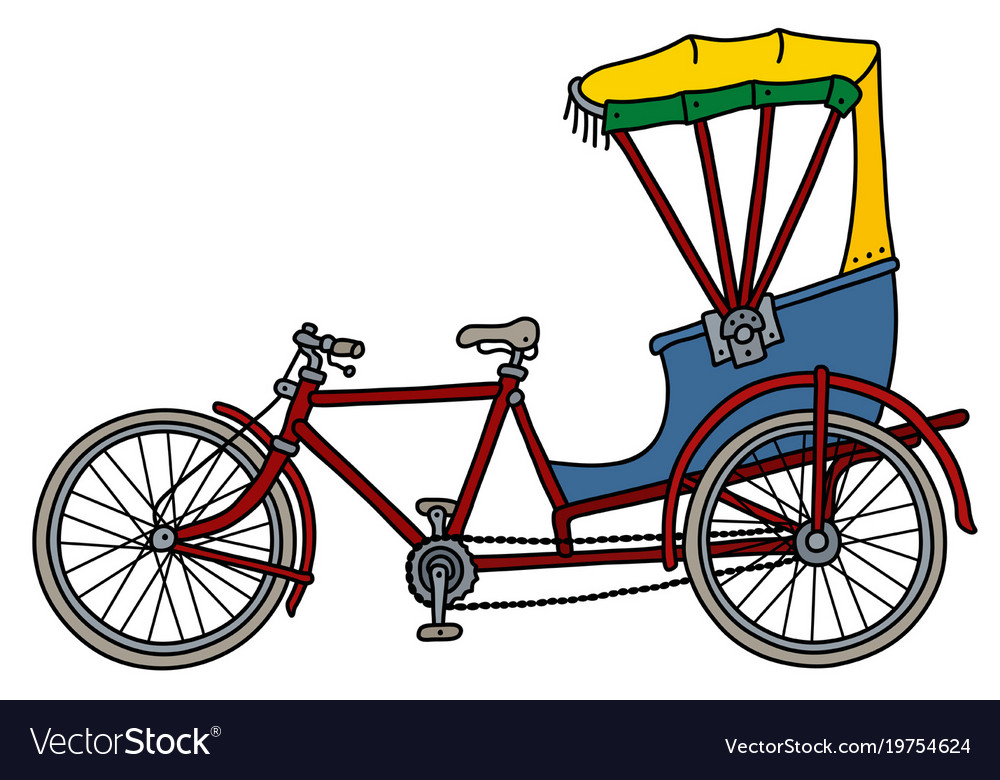 The classic rickshaw vector image