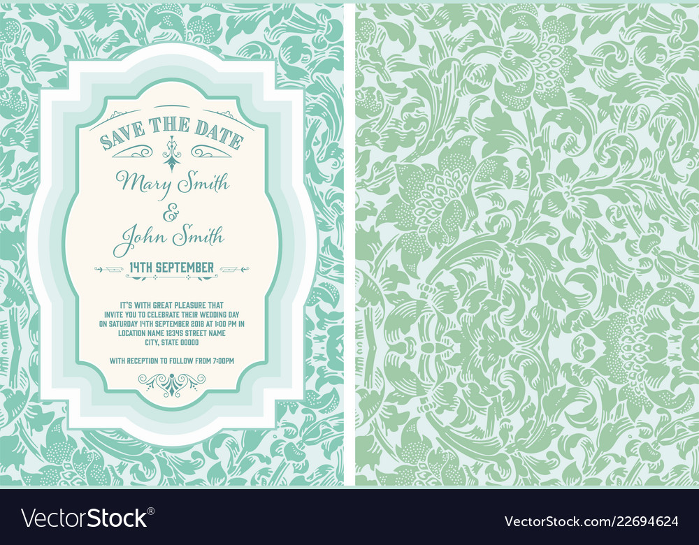 Vintage save the date layout