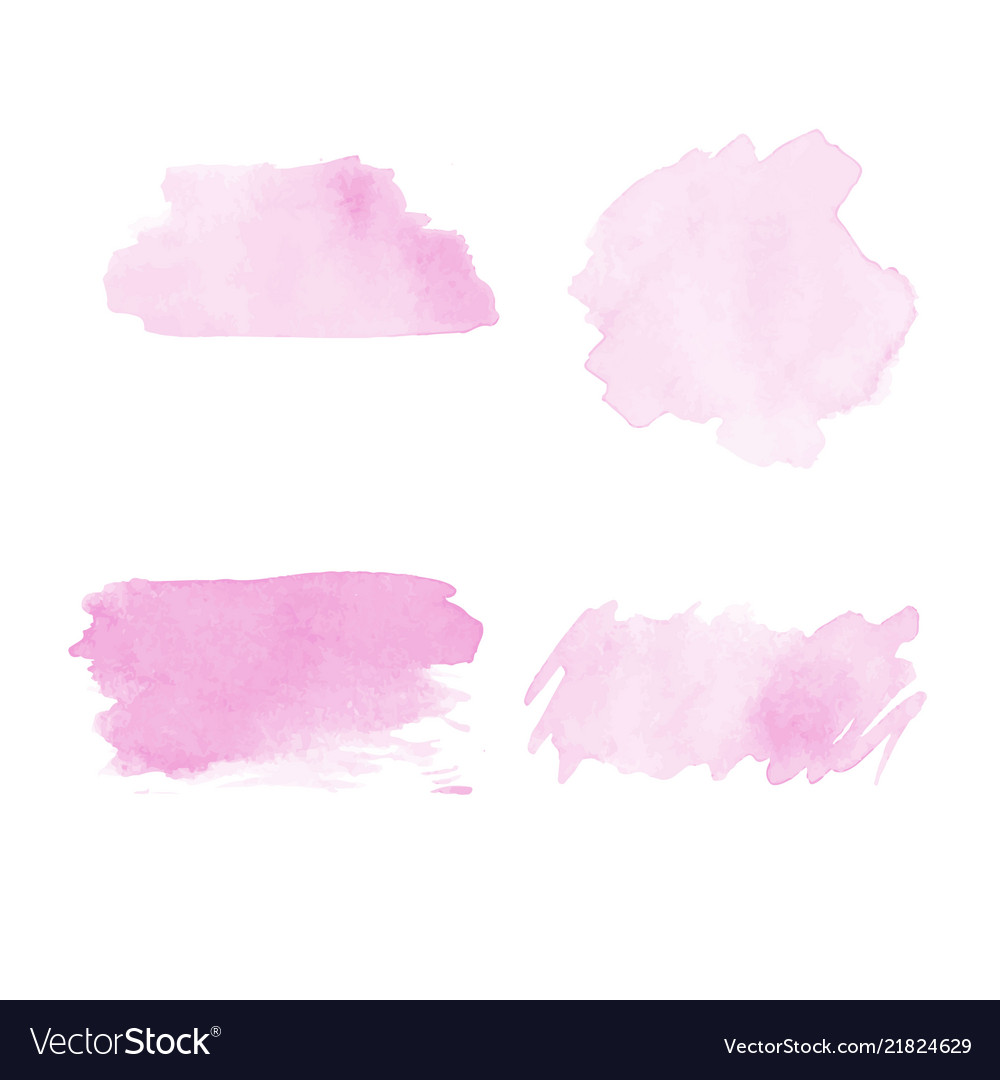 Abstract watercolor template set design