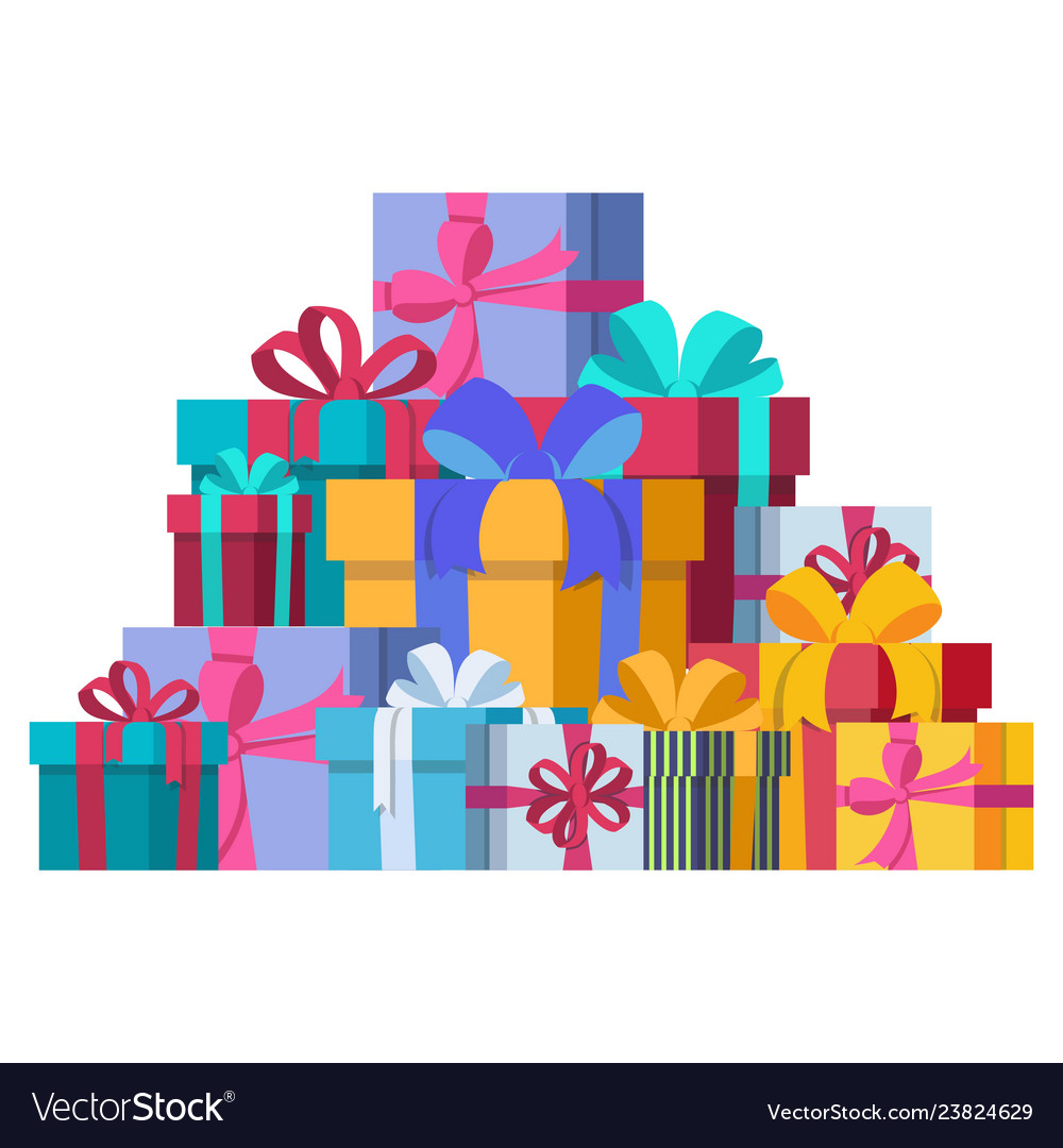 Bunch of gift boxes