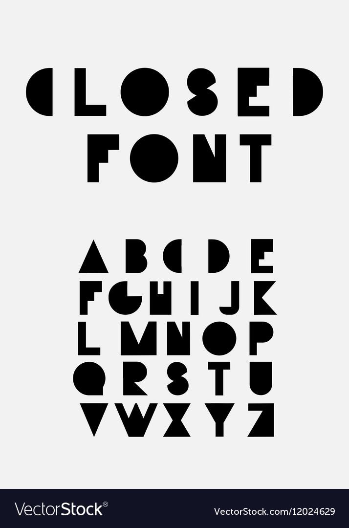 Decorative latin alphabet