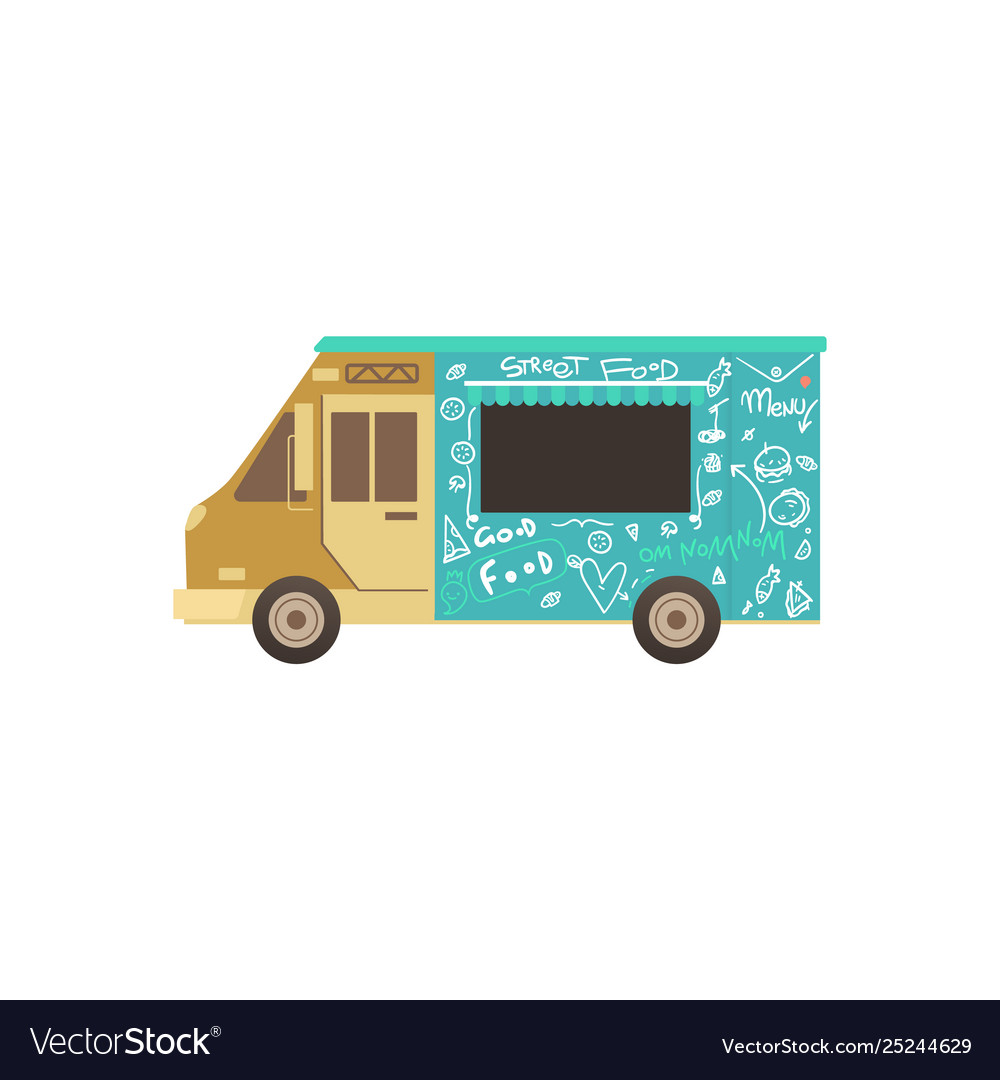 Food truck or van for fas delivery street food