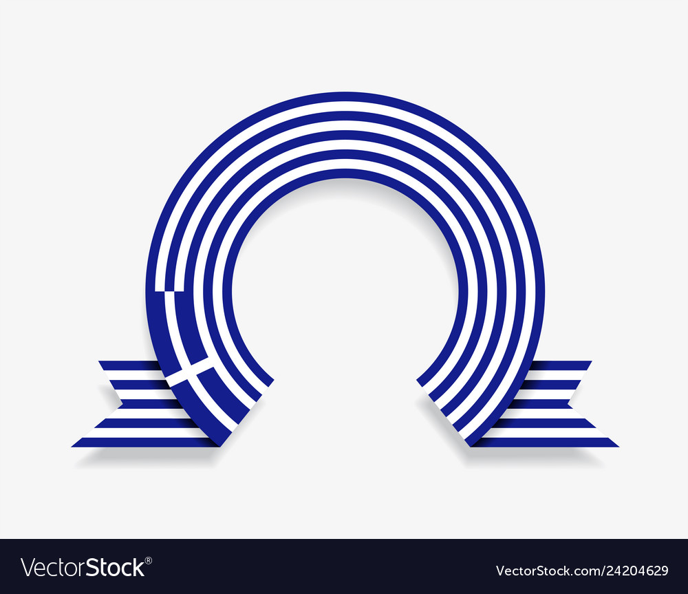 Greek flag rounded abstract background