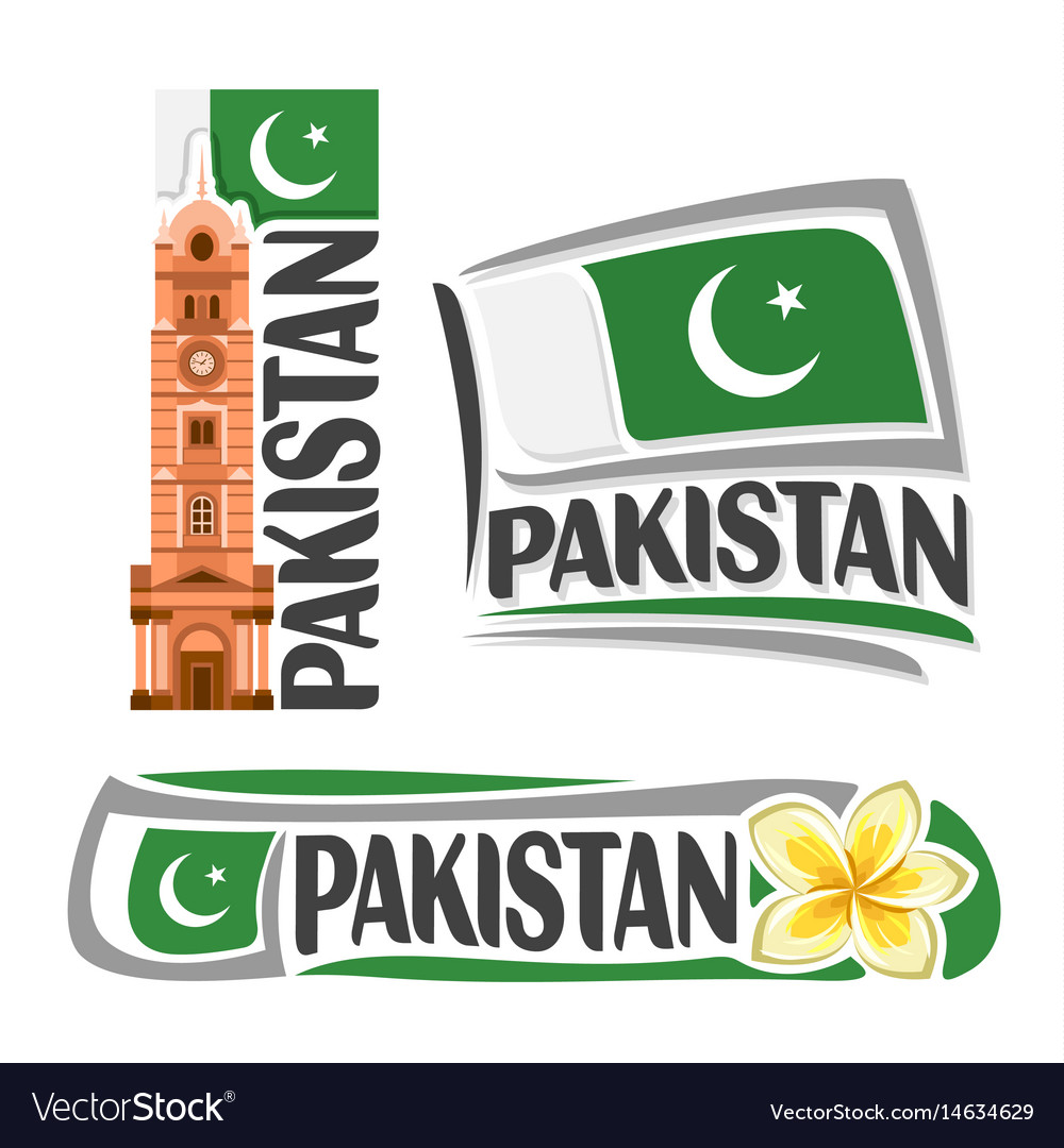 Logo for pakistan vector image