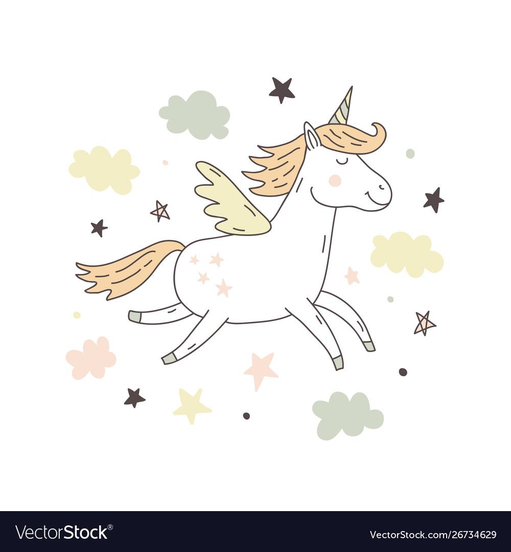 Unicorn cute poster