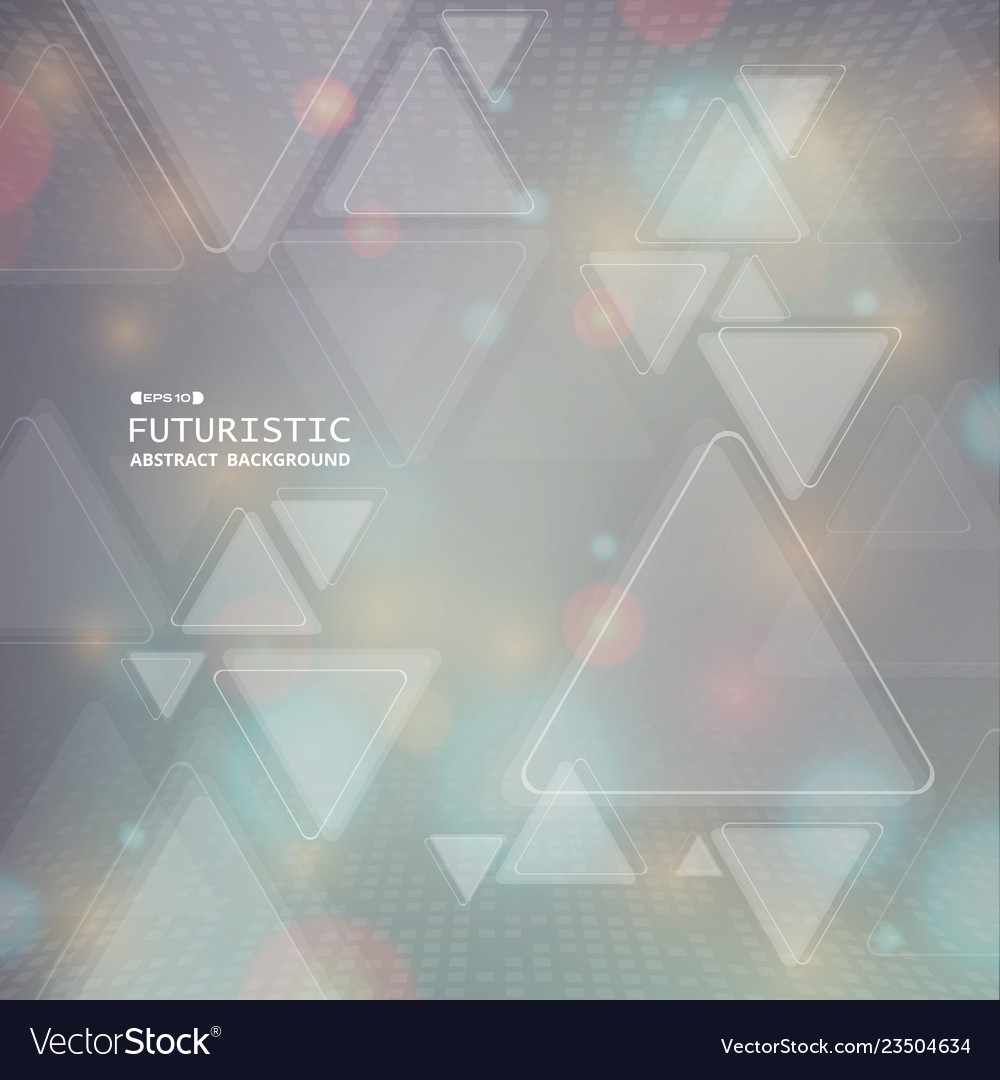 Abstract futuristic colorful geometric triangle