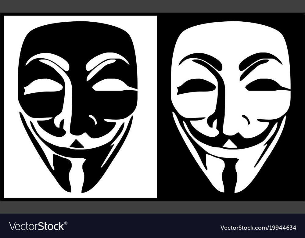 Anonymous mask logo hacker icon design imag