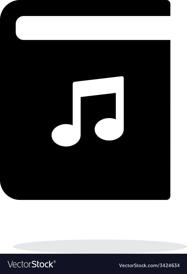 Audio book simple icon on white background