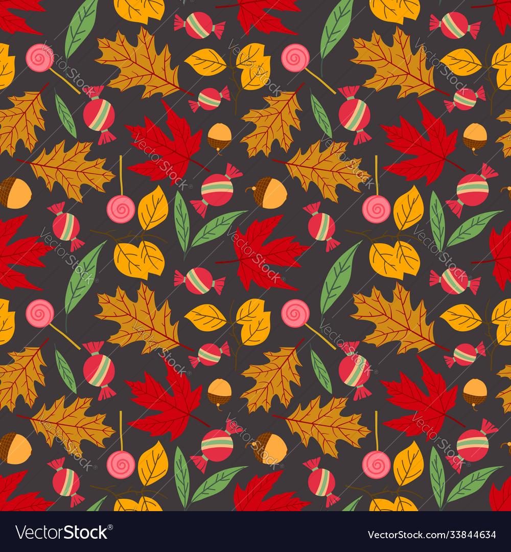 Autumn seamless pattern background