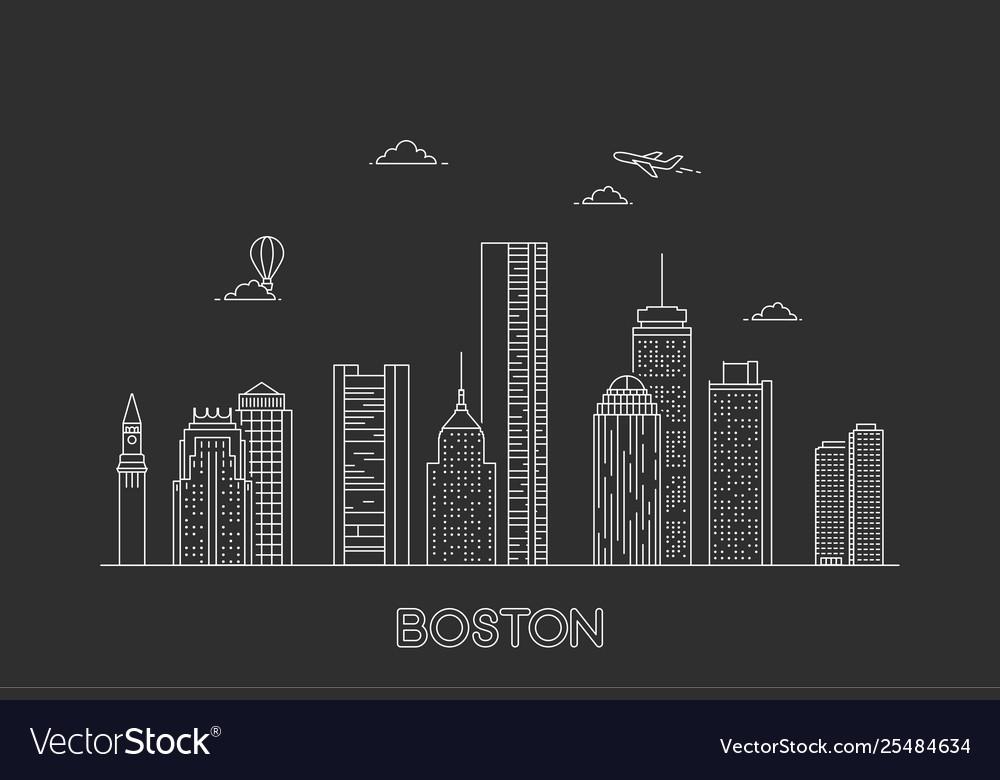 Boston city skyline usa