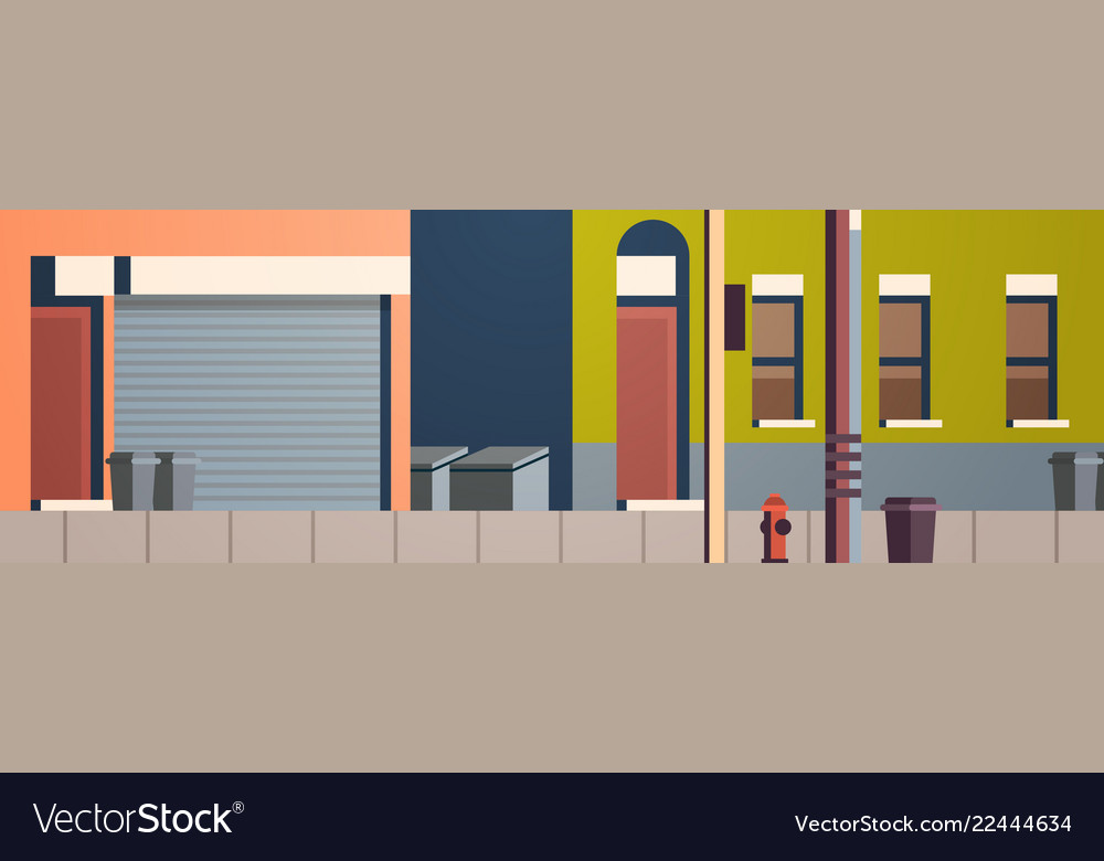 City building houses view street real estate flat