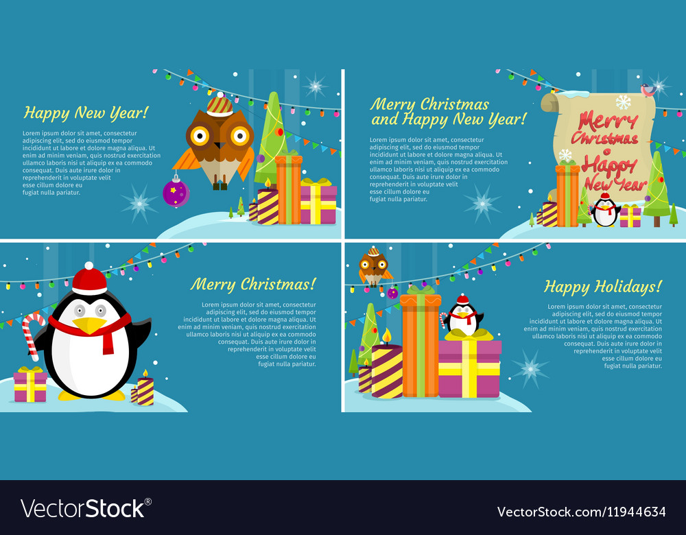 Winter Holiday Banners Safe Banners