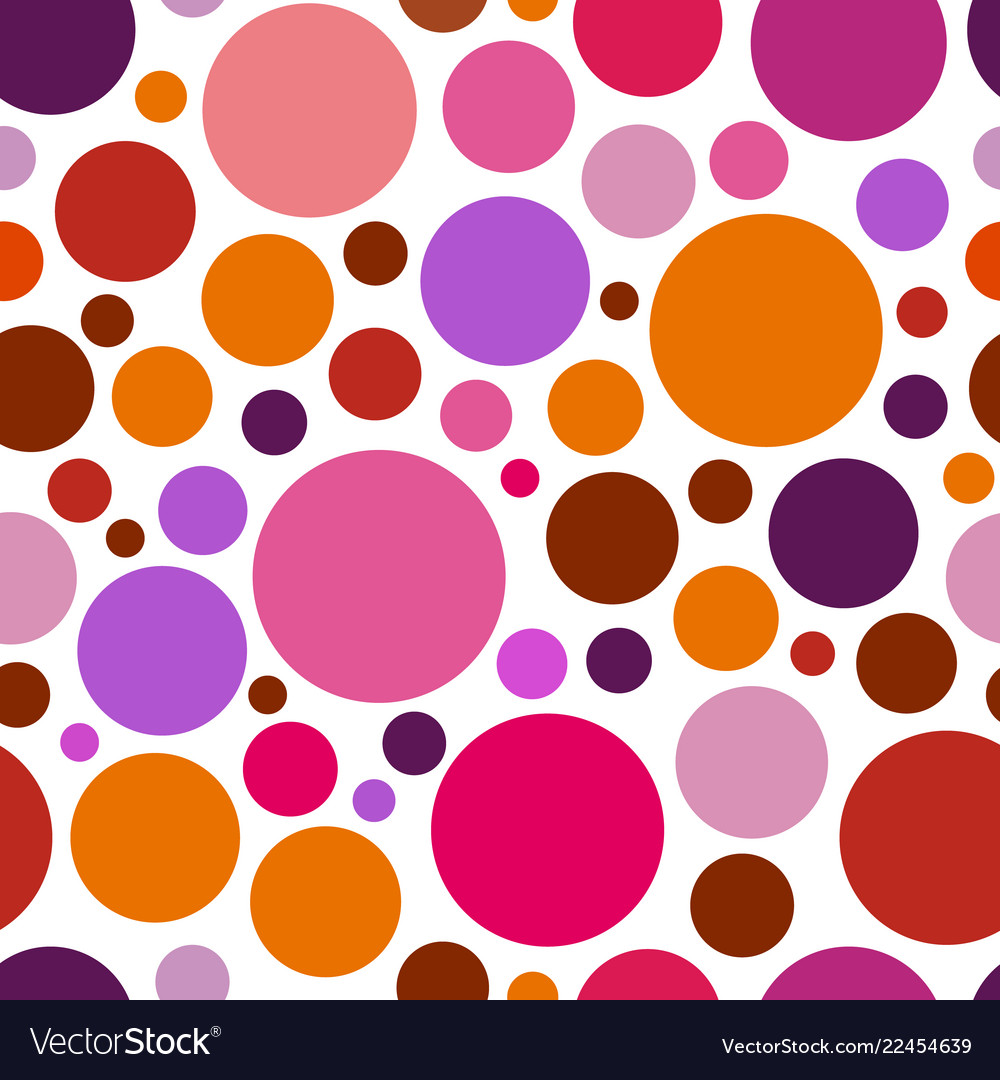 Chaotic pattern round colorful graphic dots or