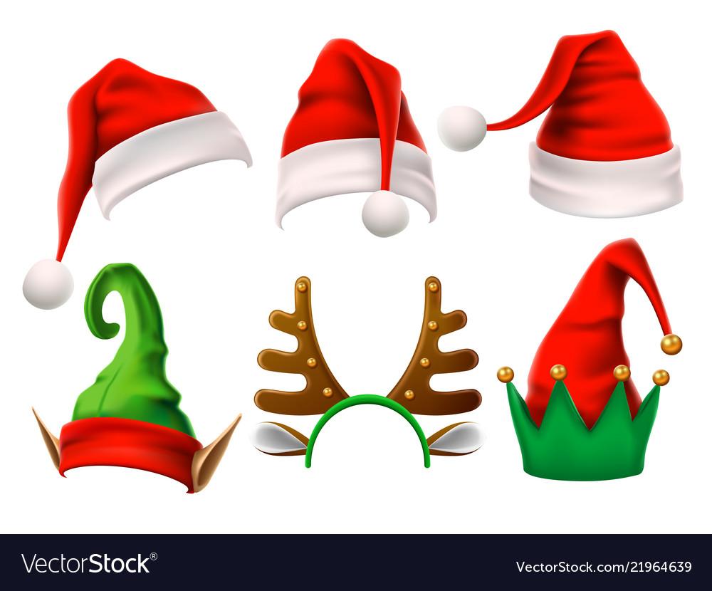 Christmas holiday hat funny 3d elf snow reindeer
