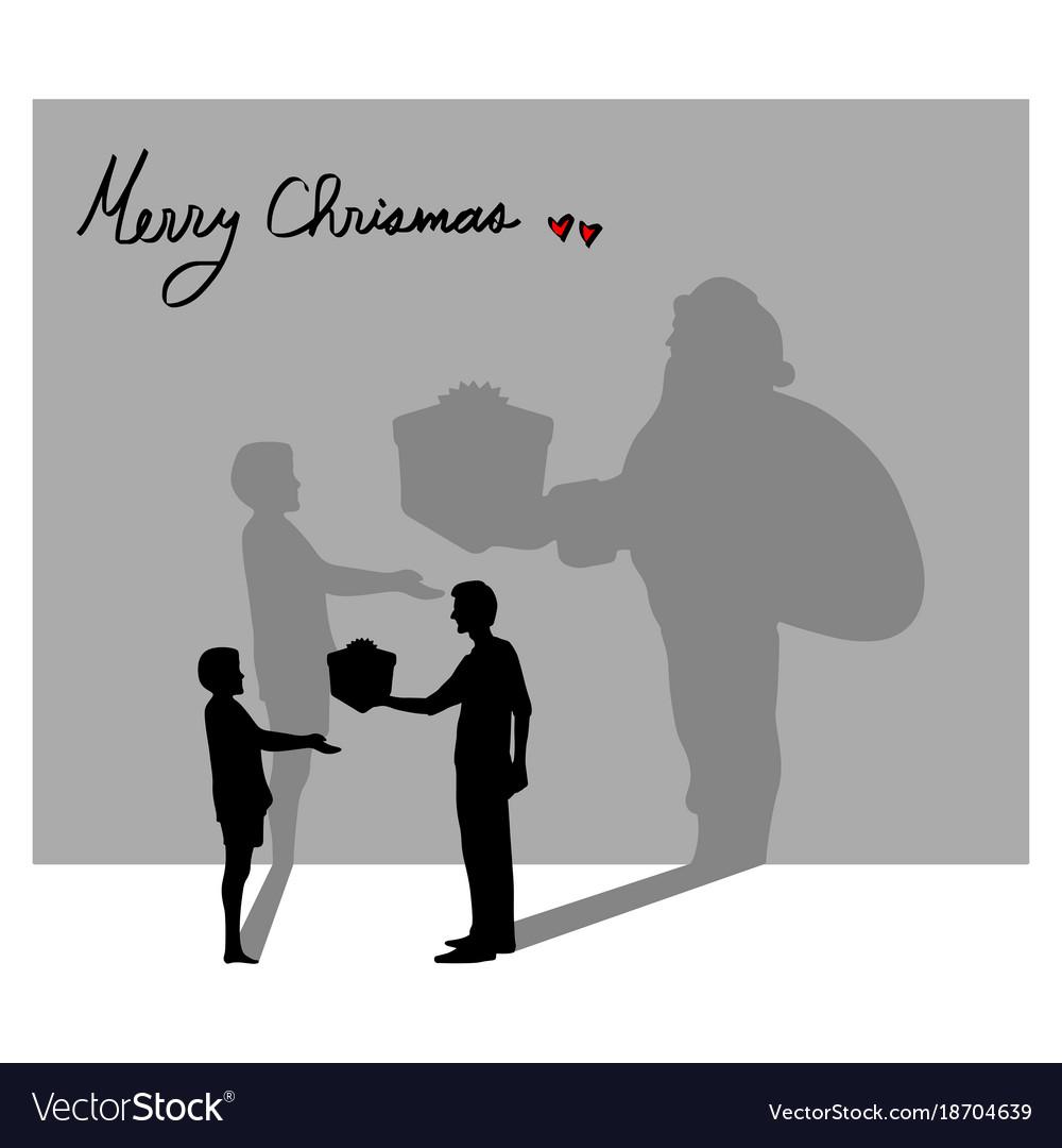 Everyone can be santa claus in christmas