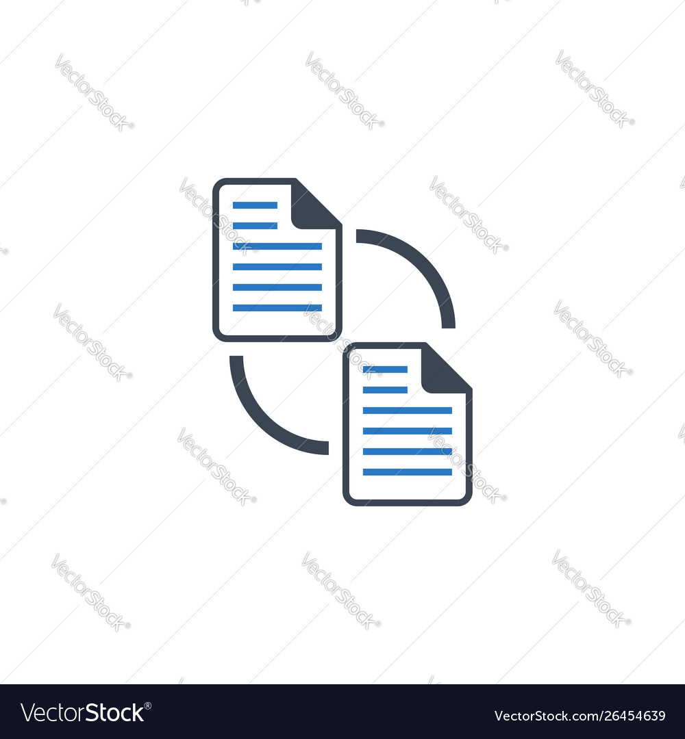File exchange related glyph icon