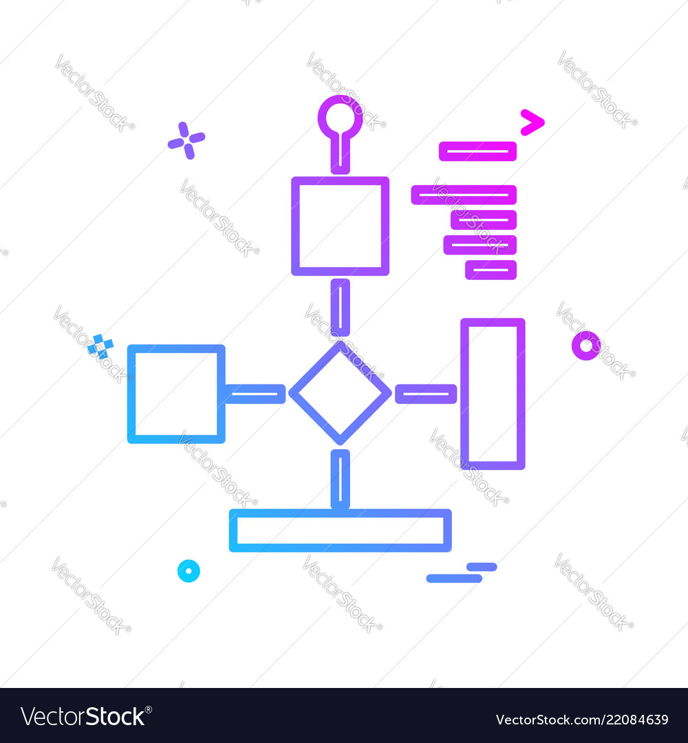 Flowchart icon design