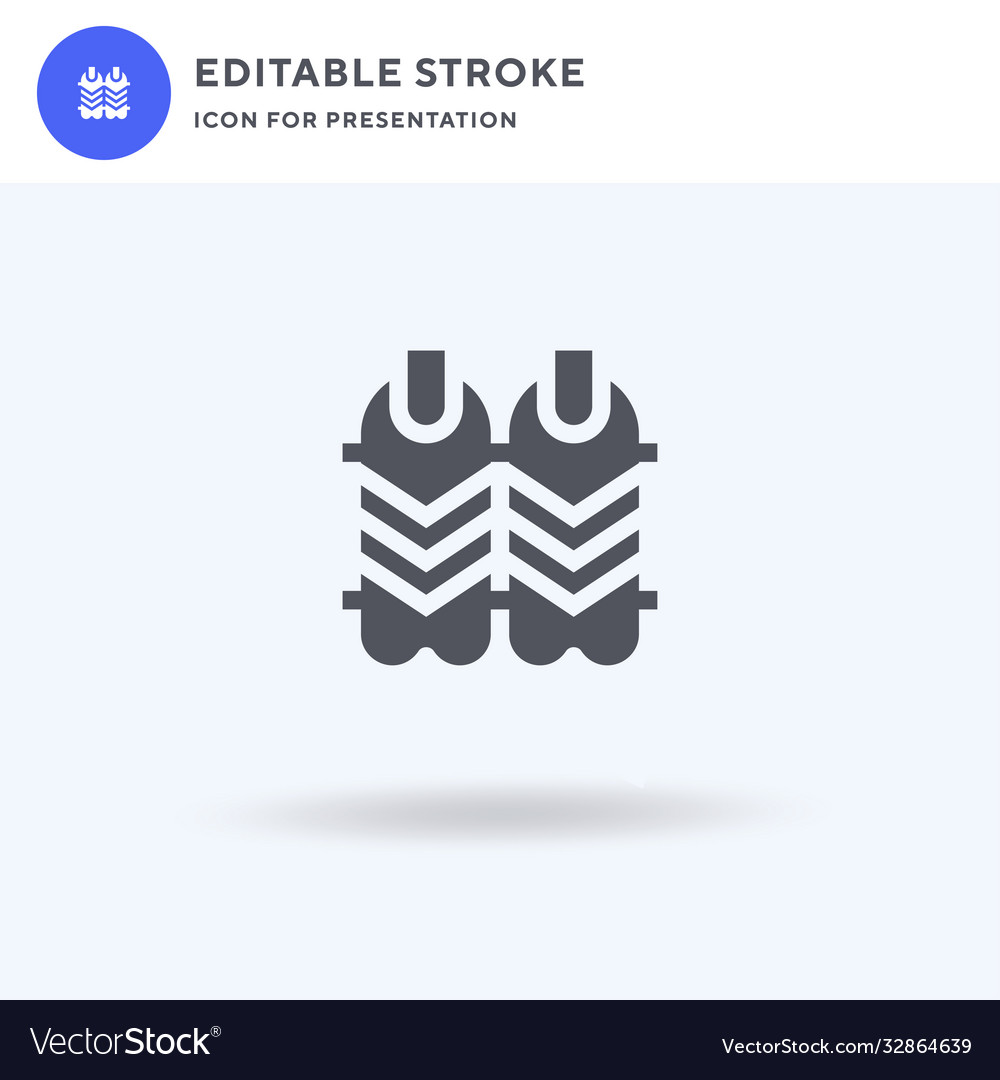 Shin guards icon filled flat sign solid