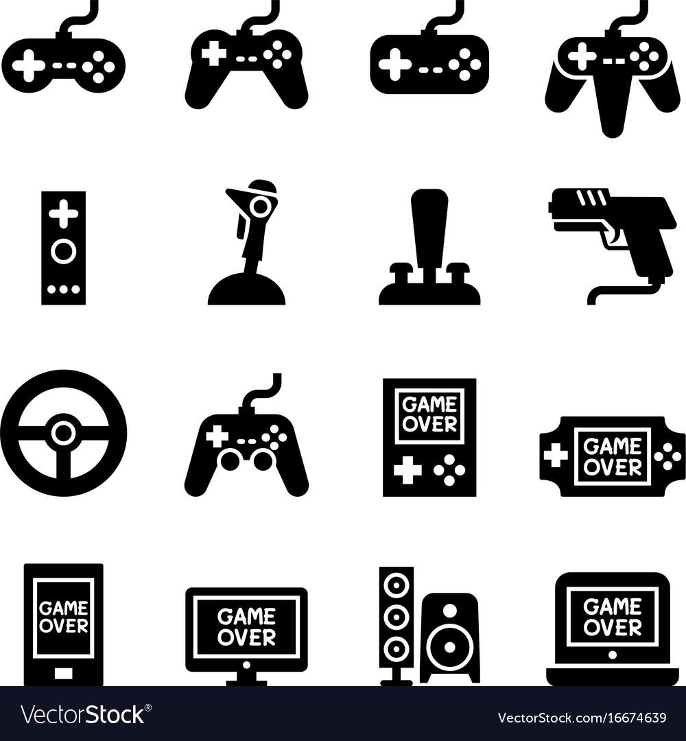 Video game controller joystick gamepad icon