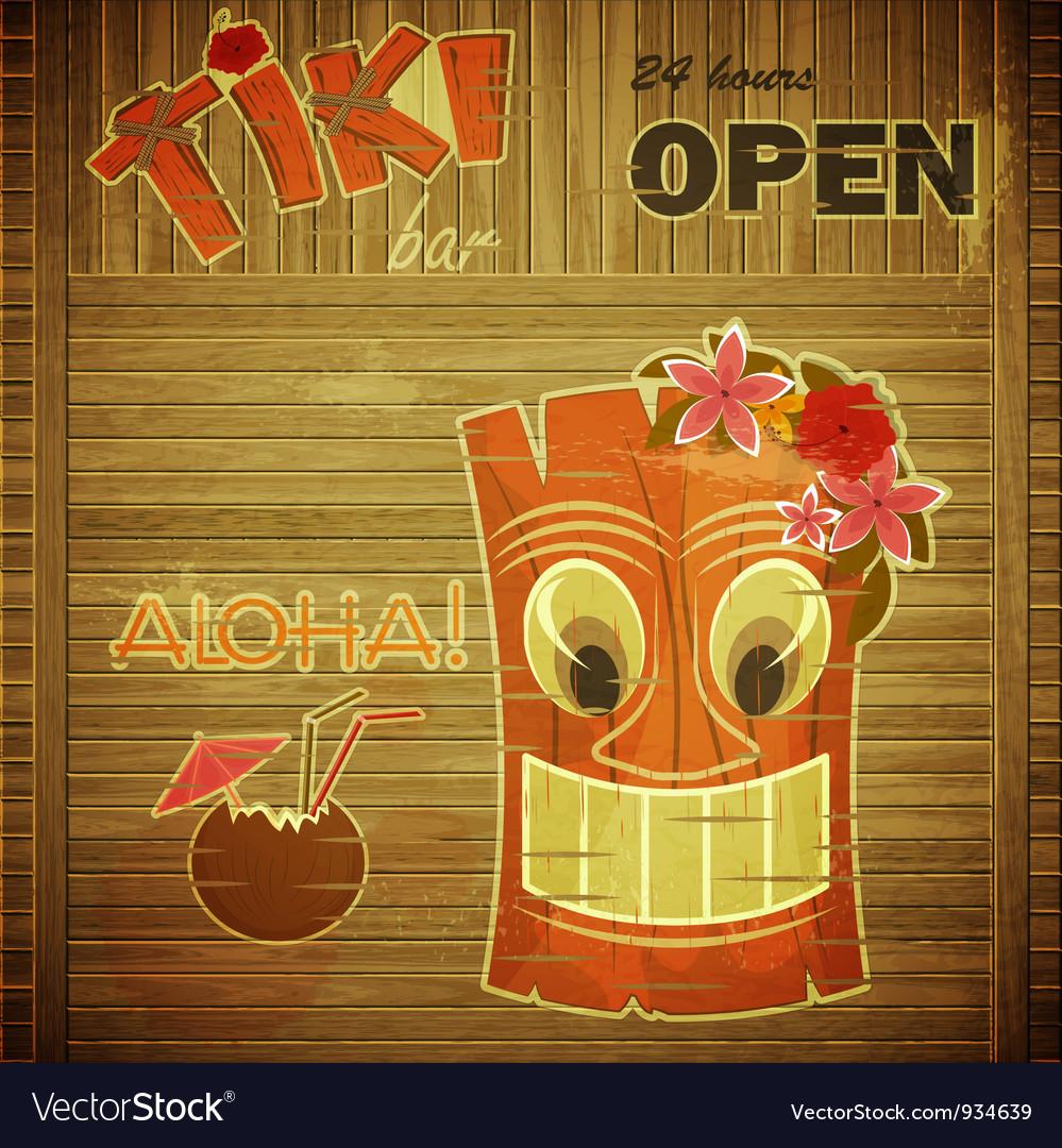 Vintage design hawaii menu