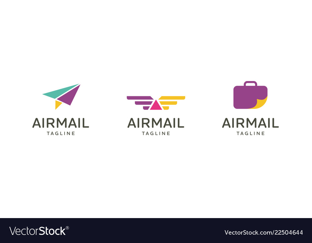 Airplane travel logo emblem design