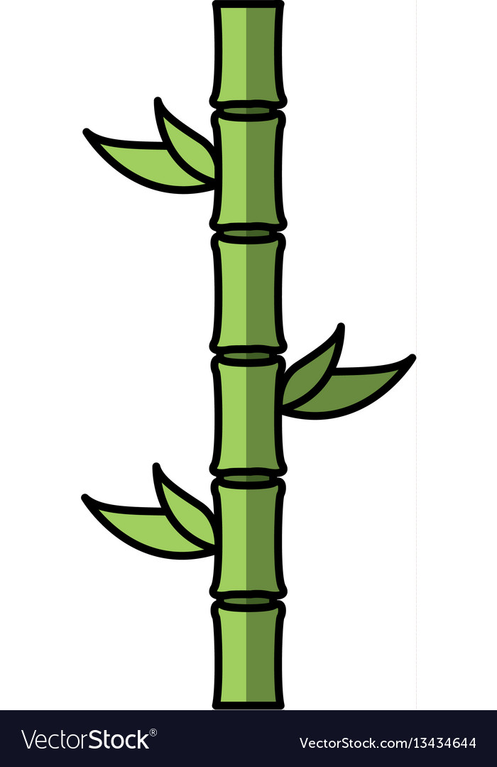Bamboo plant isolated icon