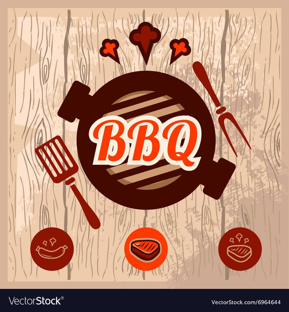 Bbq logo design vector image