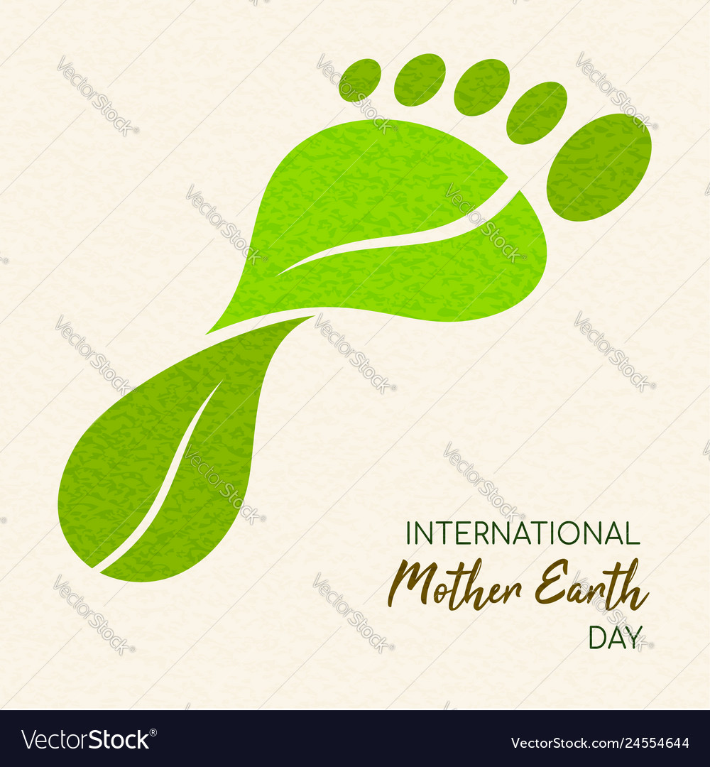 Earth day green leaf carbon footprint concept