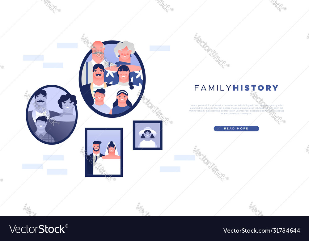 Family history web template geneaology ancestry