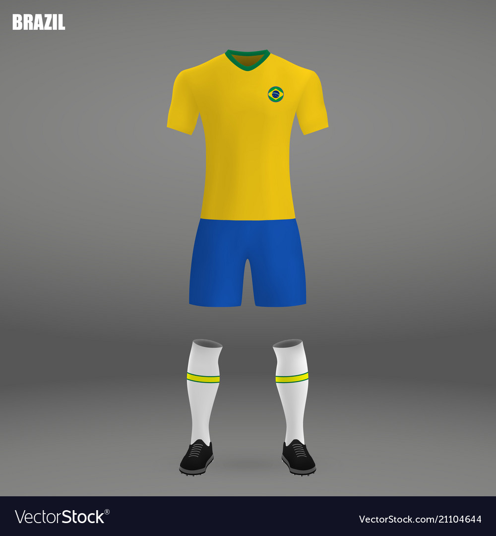70bba52ef57 Football kit of brazil 2018 Royalty Free Vector Image