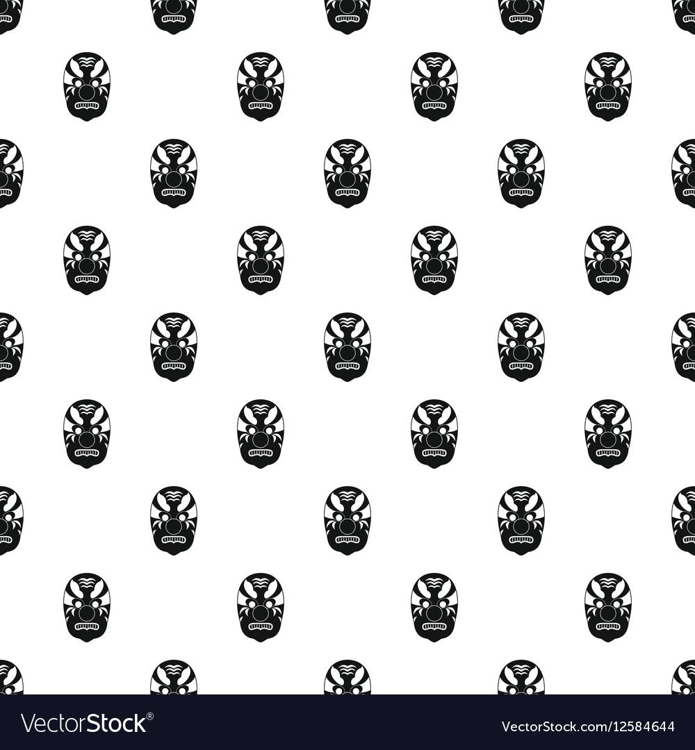 Hannya mask pattern simple style