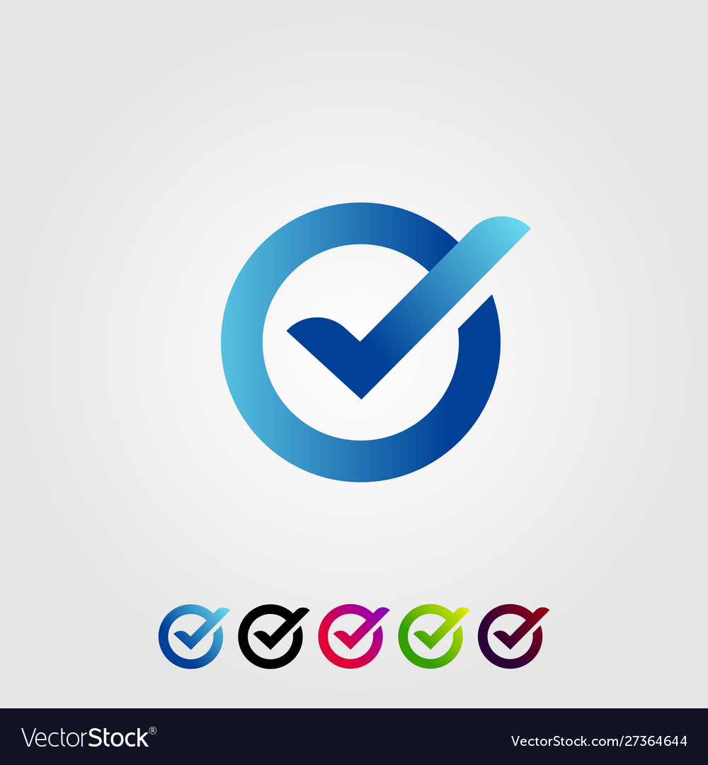 Letter o check verified modern logo design icon