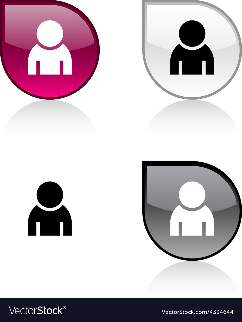 Person button vector image