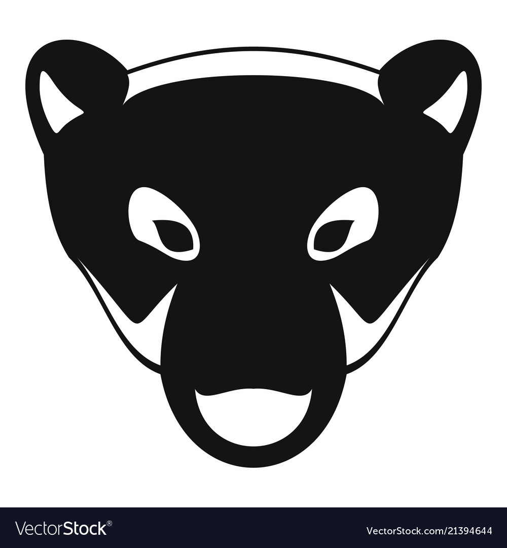 polar bear head icon simple style royalty free vector image