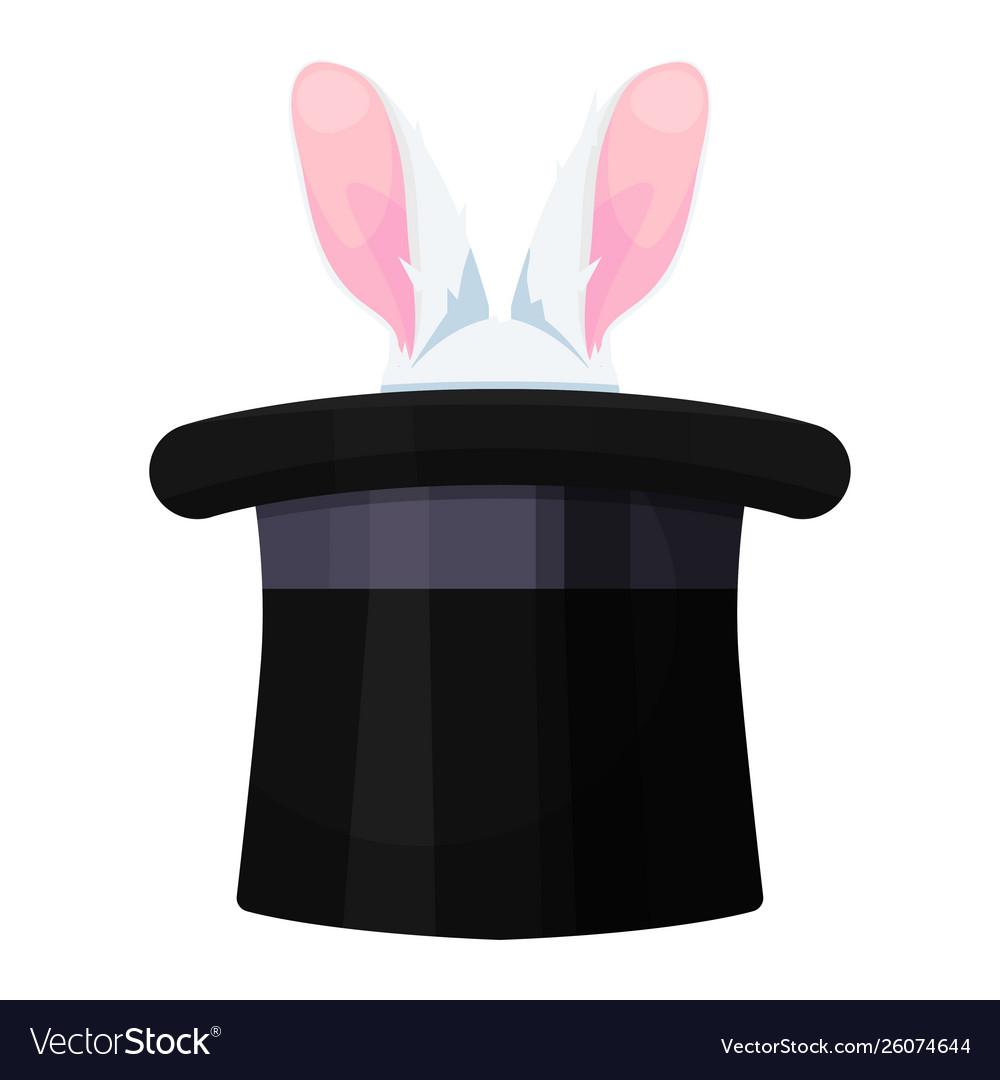 Rabbit in a hat icon illusionist art