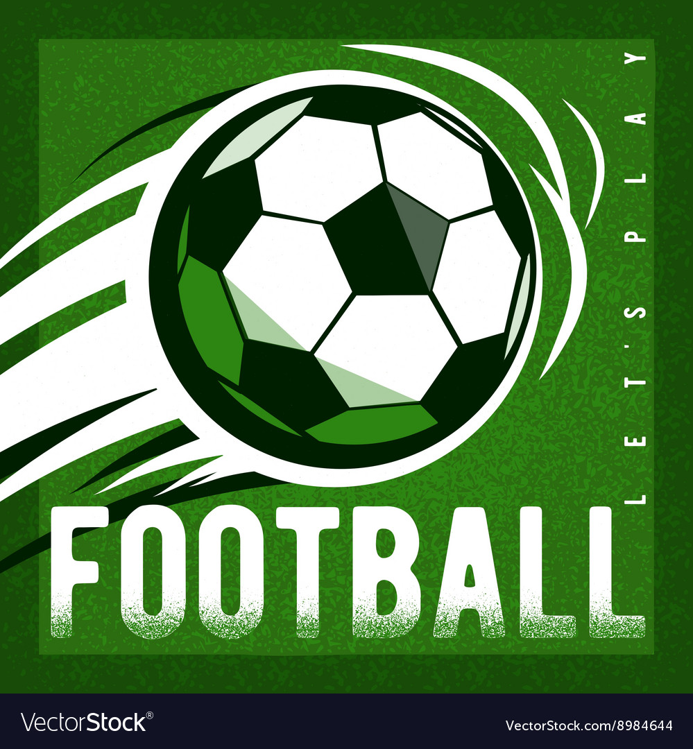 Soccer football green field background with ball
