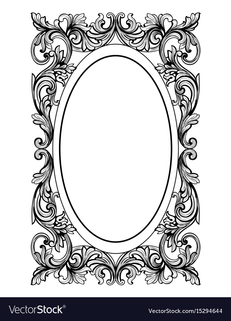 Oval frame design Pink Vintage Mirror Oval Frame French Luxury Vector Image Vectorstock Vintage Mirror Oval Frame French Luxury Royalty Free Vector