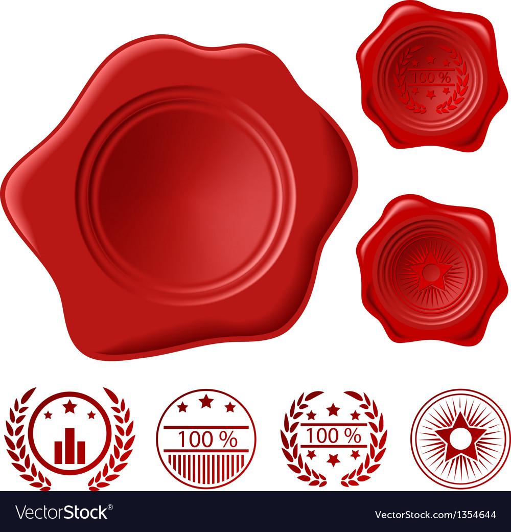 Wax seal set vector image
