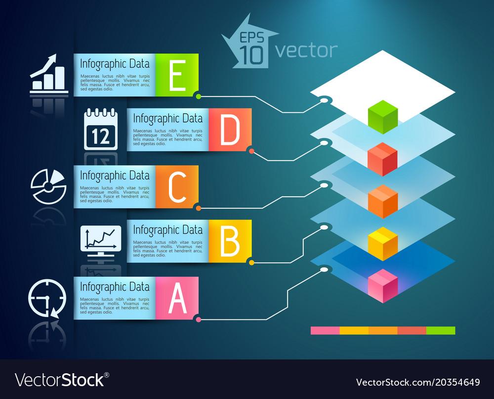 Business presentation infographic concept