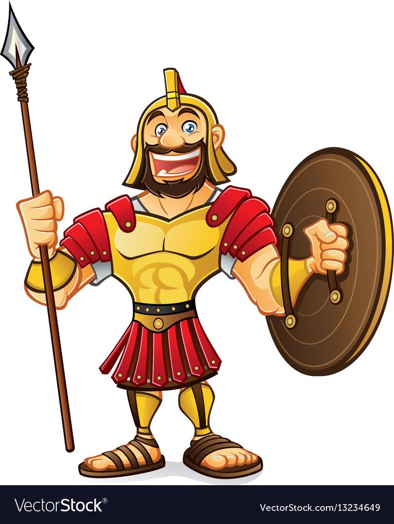 Cartoon roman army
