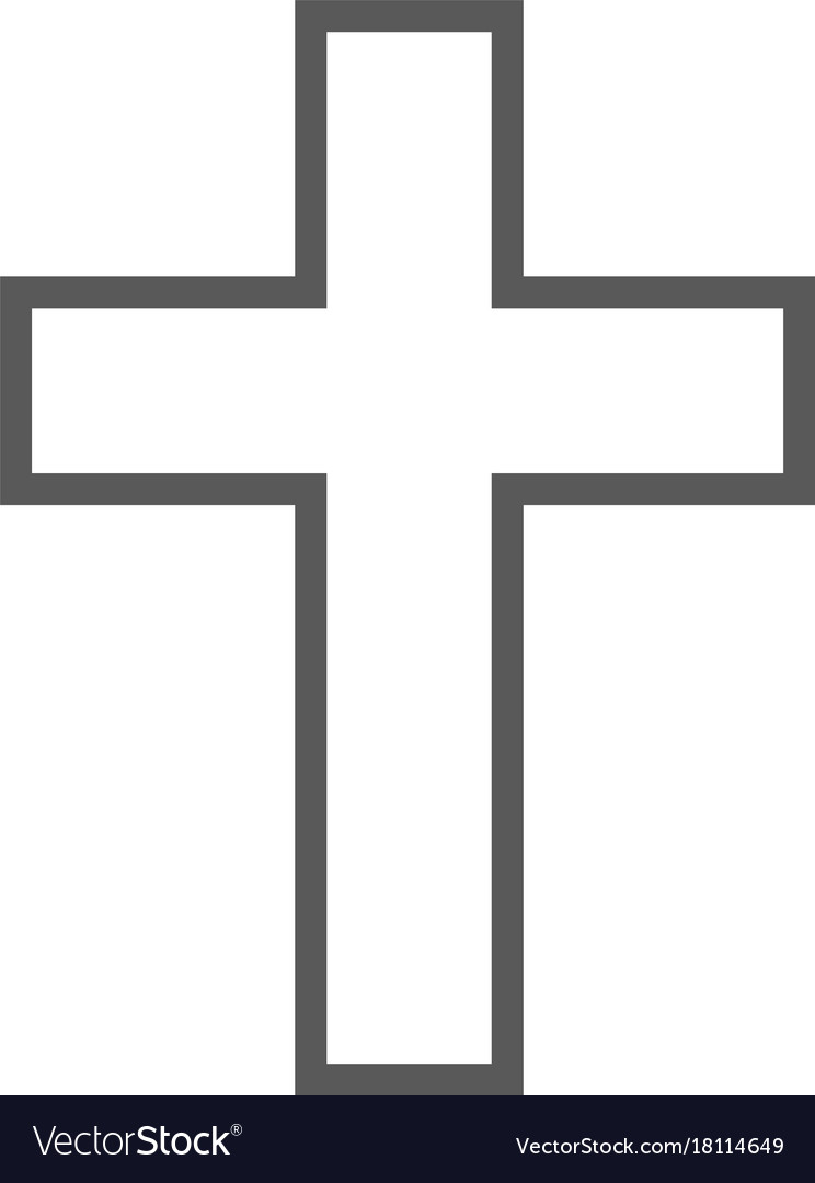 Catholic Cross Icon Simple Royalty Free Vector Image