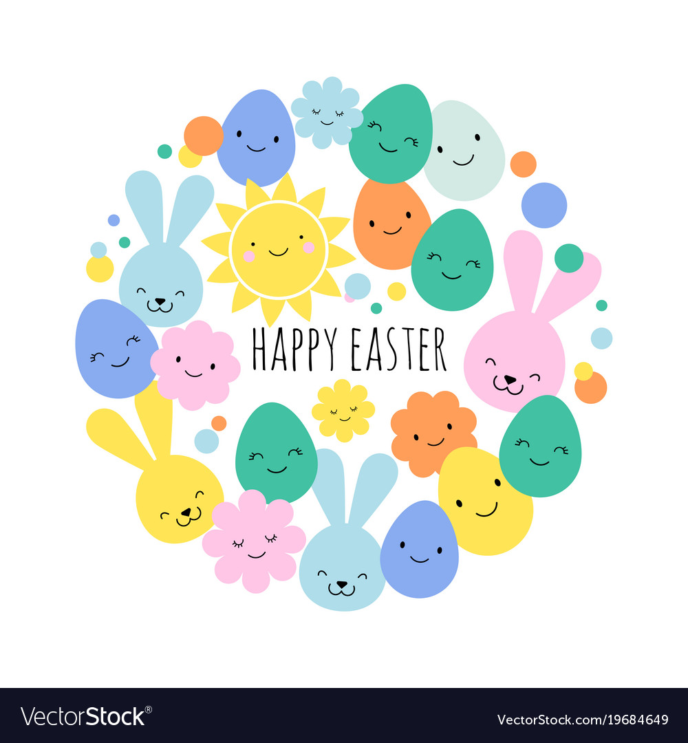 Easter card banner and background design