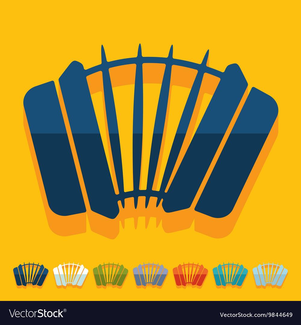 Flat design accordion