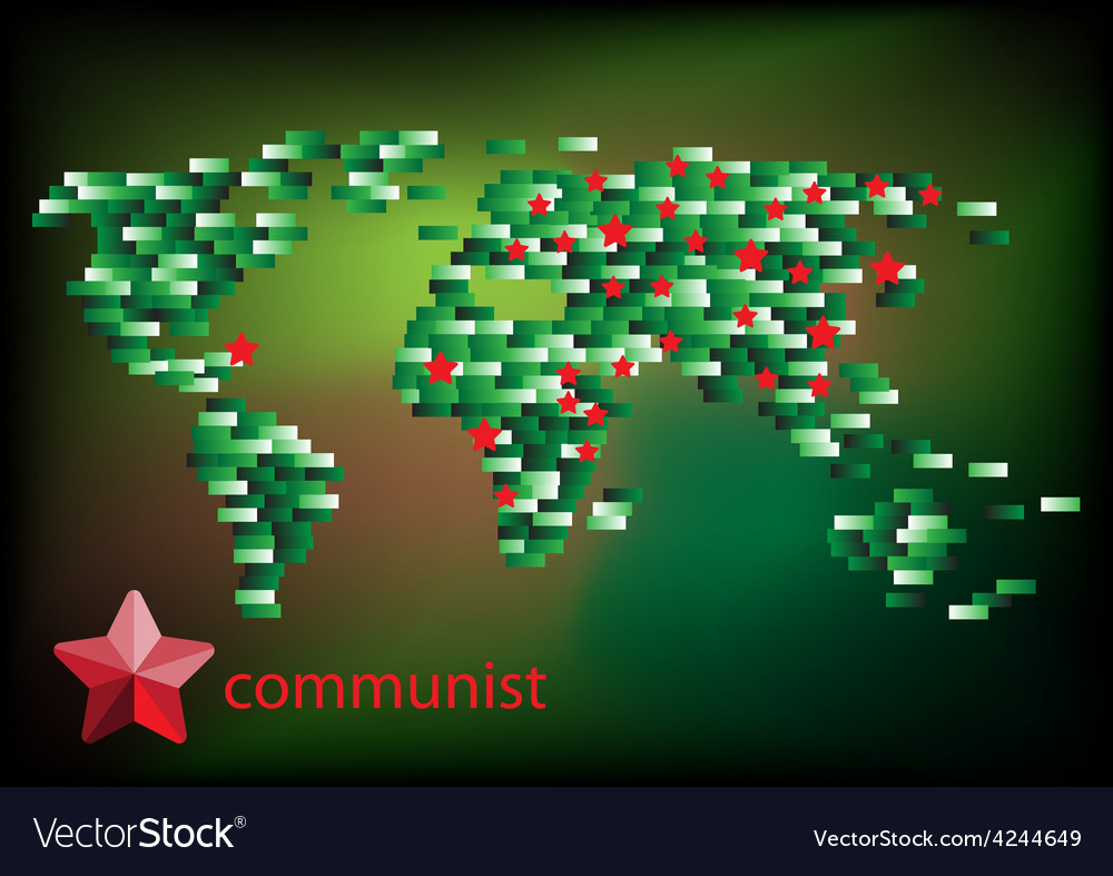 Red star communist on the map