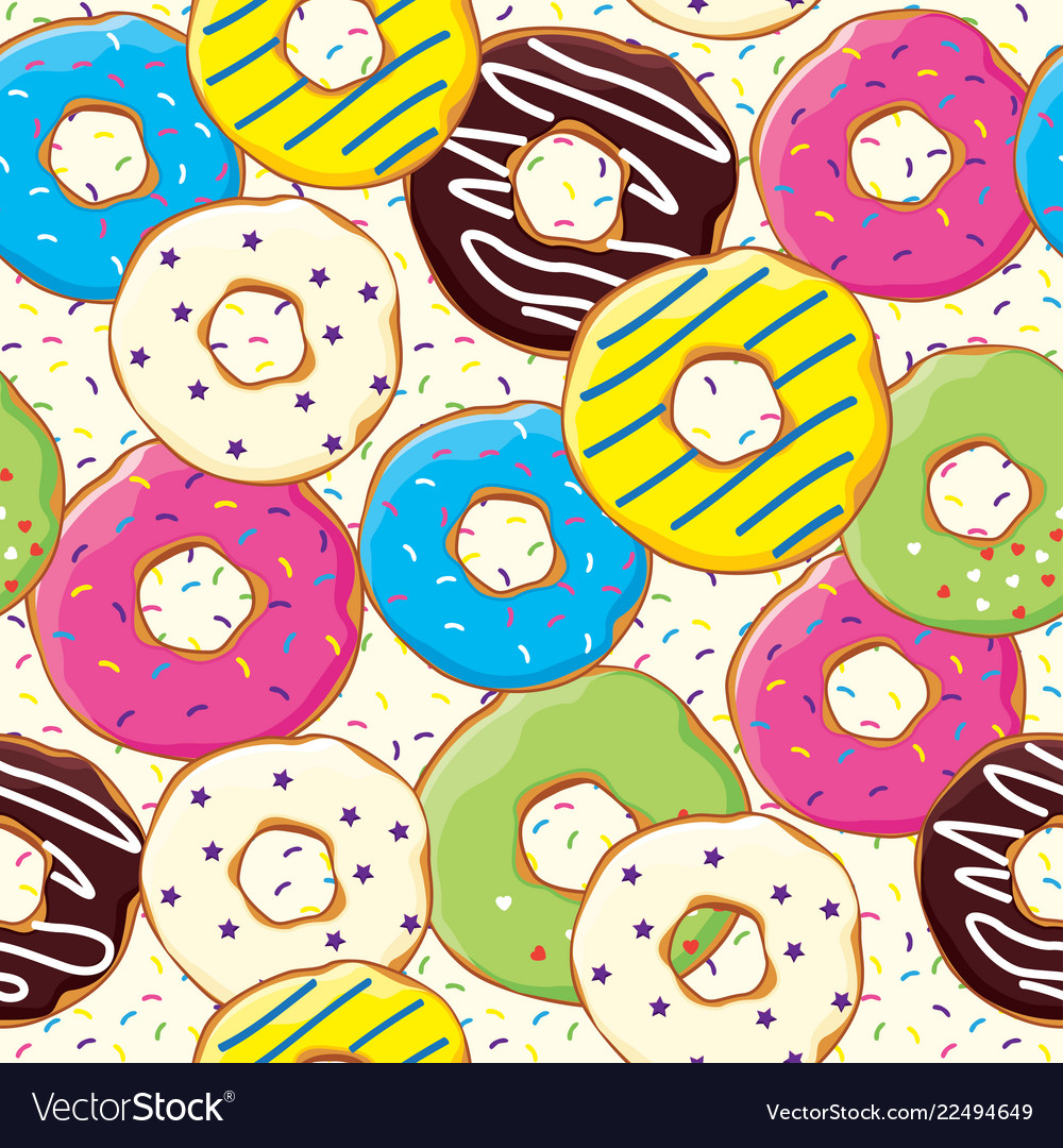 Seamless pattern with bakery and patisserie