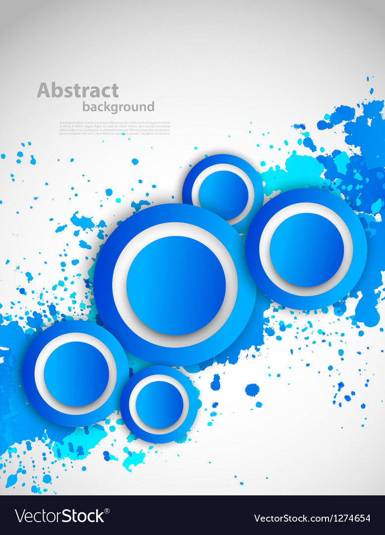 Abstract Grunge Background With Blue Color