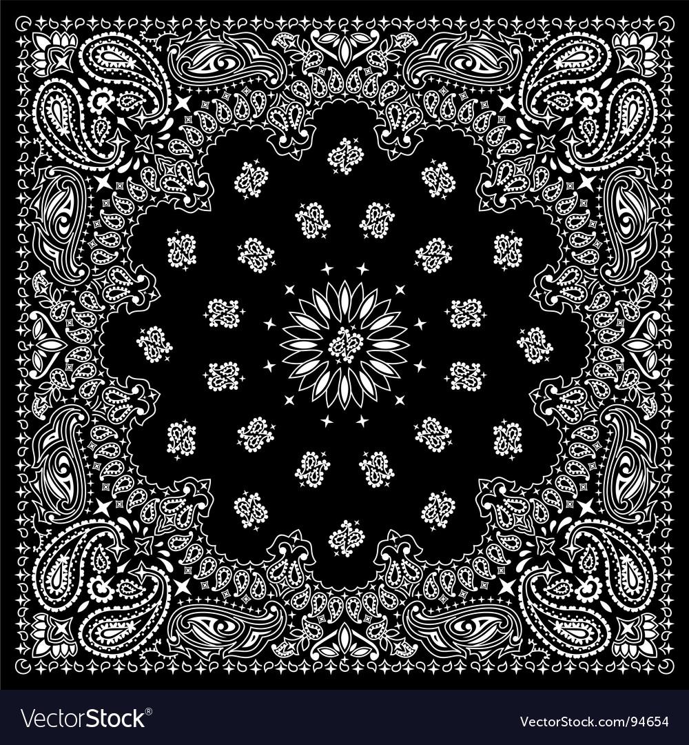 bandana black royalty free vector image vectorstock rh vectorstock com vector bandana bandana vector free download