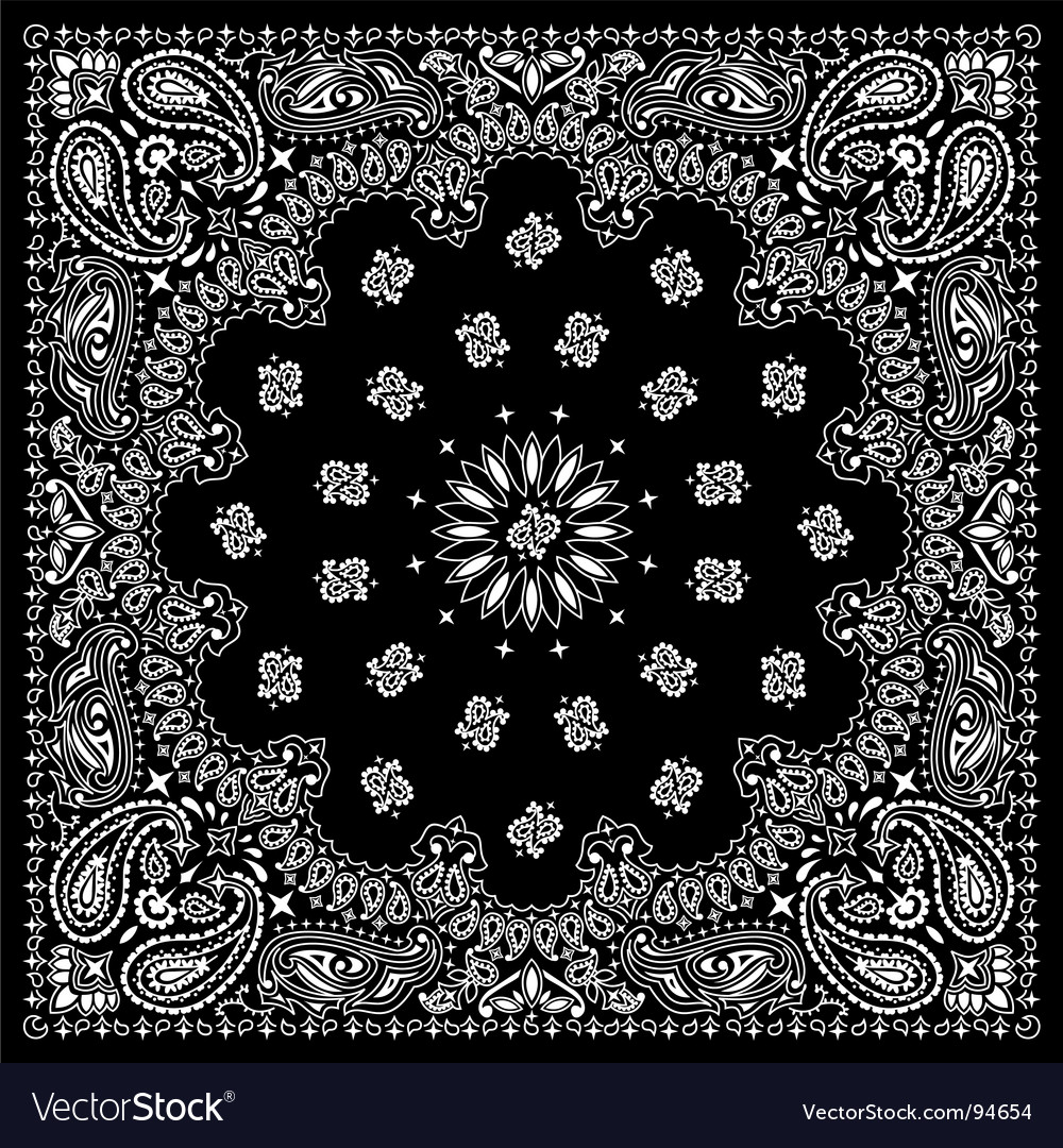 bandana black royalty free vector image vectorstock rh vectorstock com bandana vector pattern download vector bandana